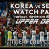 サッカー韓国代表vsセルビア代表のネット放送・中継について