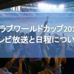クラブワールドカップ2017のテレビ放送と日程について!出場クラブも紹介!【CWC】